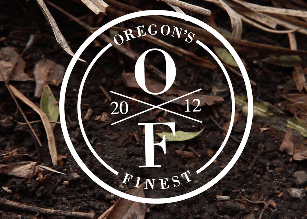 Oregon's Finest Logo above some soil